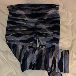 Lululemon blue camo yoga pants